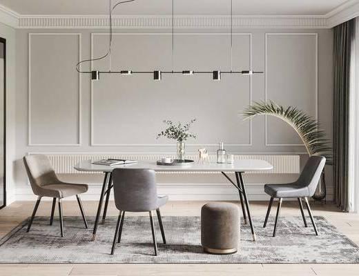 北欧餐桌椅组合, 餐桌椅组合, 桌椅组合