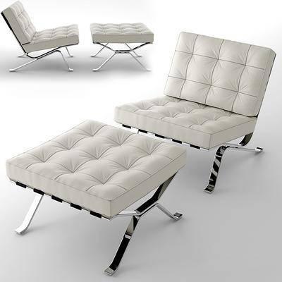 休闲椅, 脚踏, 沙发, 单人沙发, 现代