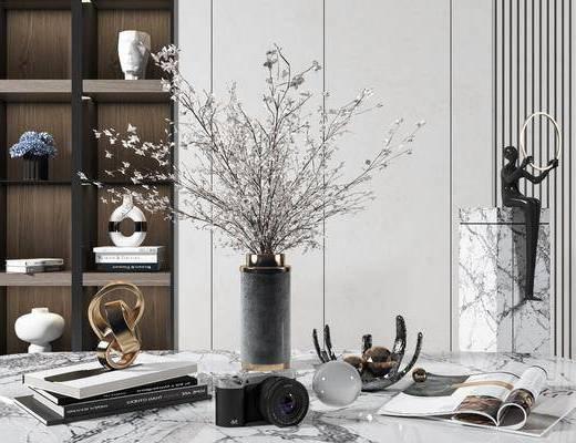 装饰品, 摆件组合, 花瓶, 植物