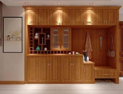 鞋柜, 酒柜, 陈设柜, 展示柜, 中式, 陈设品, 装饰画, 挂画
