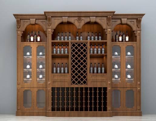 酒柜, 豪华酒柜, 整体酒柜, 装饰酒柜, 美式酒柜, 欧式酒柜, 创意酒柜