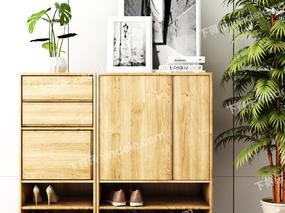 柜, 边柜, 装饰画, 盆栽, 鞋柜, 鞋子