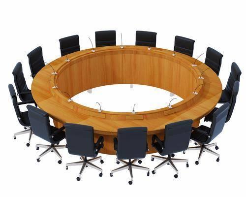 圆形会议桌, 单人椅, 现代
