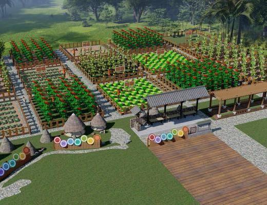 共享共作农场, 土地菜地共享田园种植