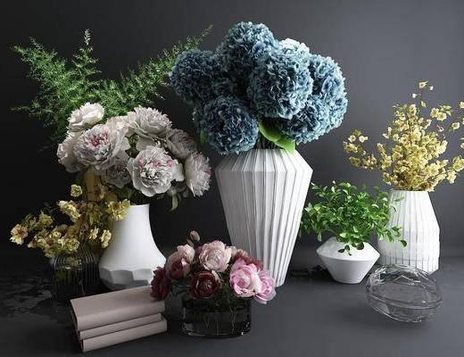 花艺, 花瓶, 植物