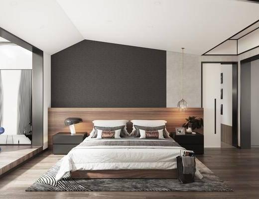 现代, 简约, 卧室