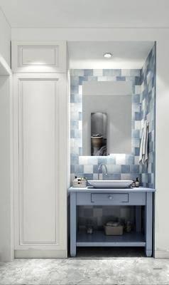 卫浴组合, 镜子, 洗手盆, 柜架组合