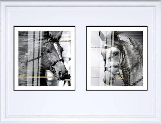 装饰画, 挂画, 动物画, 艺术画, 组合画, 现代