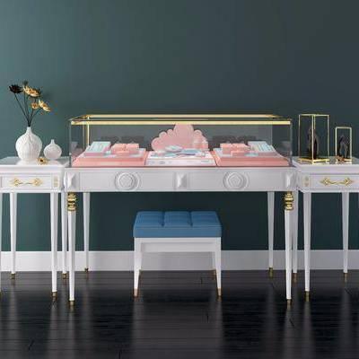 桌子, 凳子, 边几, 摆件, 装饰品, 陈设品, 柜台, 珠宝, 展示台, 简欧, 双十一