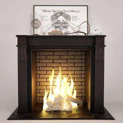 壁炉, 美式, 美式壁炉, 拱火, 装饰画, 摆件