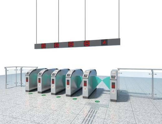 地铁检票口, 现代