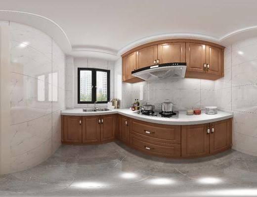 廚房, 家裝全景, 櫥柜組合, 廚具組合, 洗手臺組合, 現代