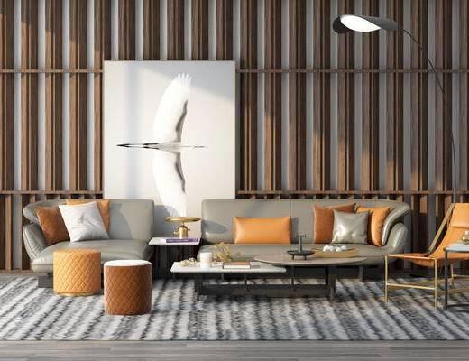 休闲椅, 茶几, 饰品摆件, 沙发组合, 抱枕