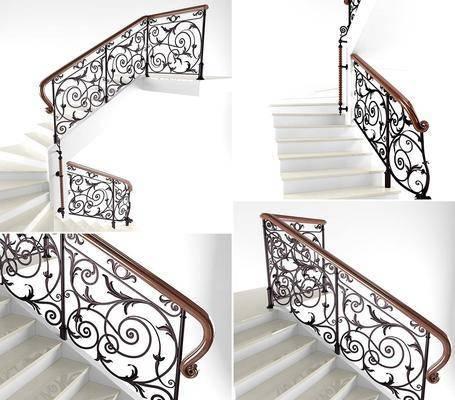 楼梯, 扶手, 楼梯扶手, 护栏, 现代