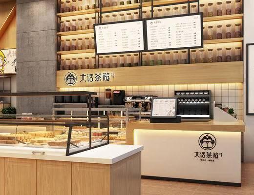 店面, 蛋糕, 面包, 奶茶, 商业空间, 设计