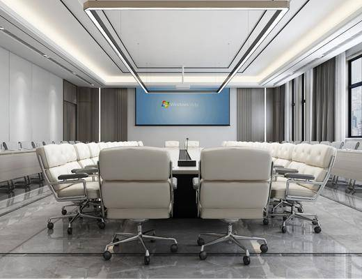 会议室, 桌椅组合, 吊灯