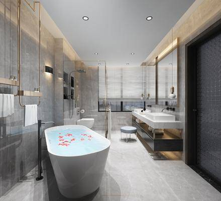 現代衛生間, 衛生間, 浴室