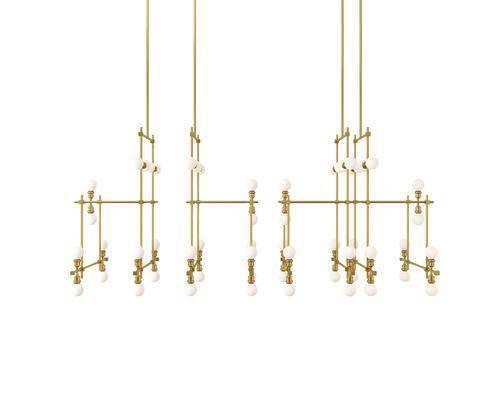 吊灯, 金属吊灯, 新中式
