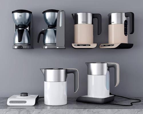 咖啡机, 热水壶, 电器