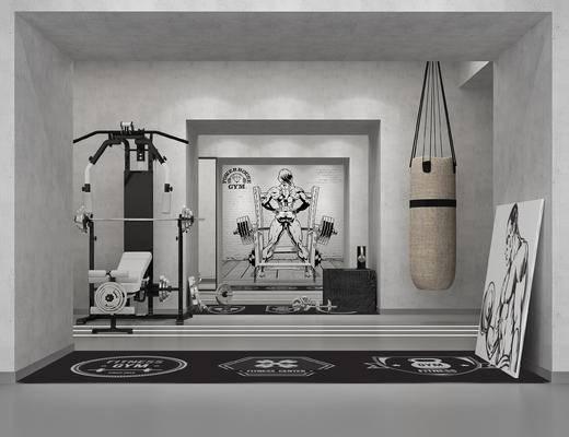 现代, 健身会所, 健身器材