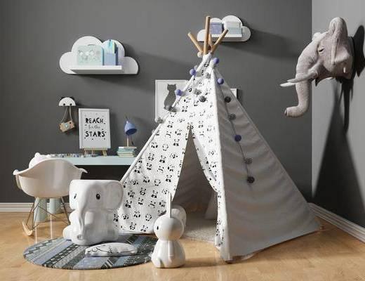 儿童用品, 帐篷, 玩具, 桌椅组合