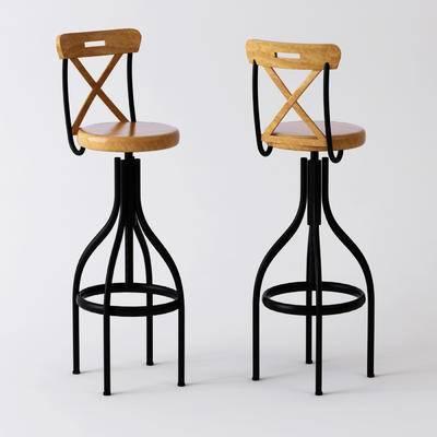 工业风, 吧凳, 餐椅