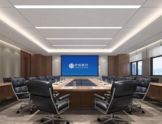 会议室, 会议桌, 办公椅