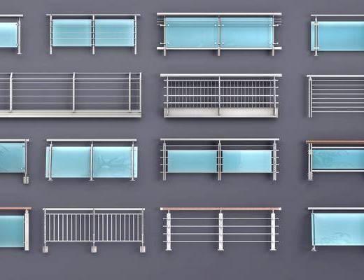栏杆, 扶手, 现代玻璃栏杆, 玻璃