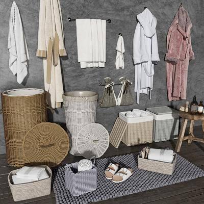 编织筐, 浴袍, 卫浴用品