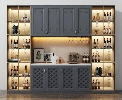酒柜, 酒架, 置物柜, 柜架組合