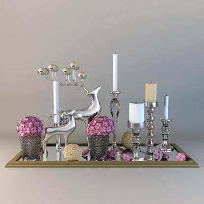 蜡烛, 主题, 摆件, 装饰品, 花瓶, 花卉, 现代