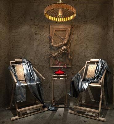 单椅, 中式单椅, 墙饰, 中式