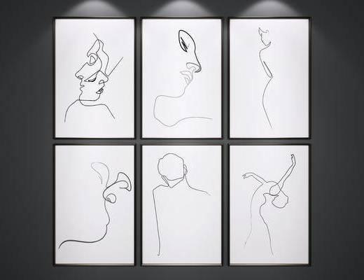 挂画, 艺术画, 抽象画, 装饰画
