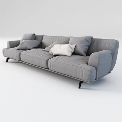 多人沙发, 布艺沙发, 现代沙发, 沙发