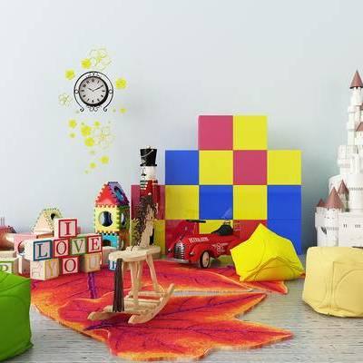 玩具组合, 房屋, 积木, 玩具, 玩具车