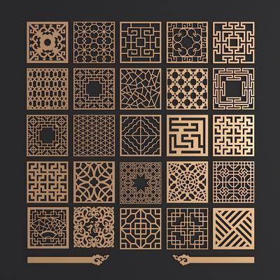 金属花格, 镂花雕花, 平开门, 新中式, 双十一