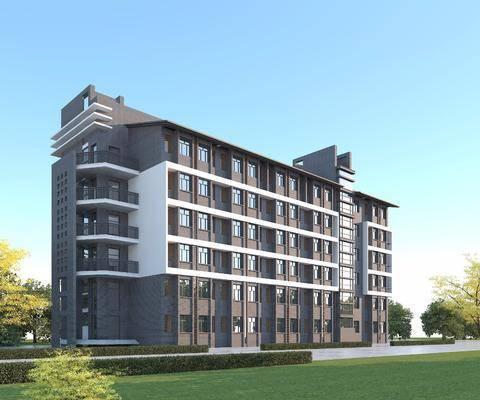宿舍楼, 公寓, 建筑, 小区, 办公楼