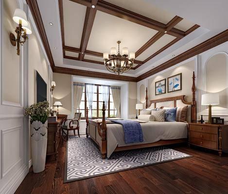 美式, 卧室, 家装