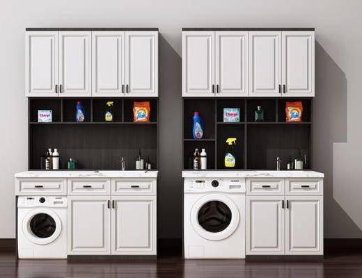 洗衣机, 柜架组合, 摆件组合
