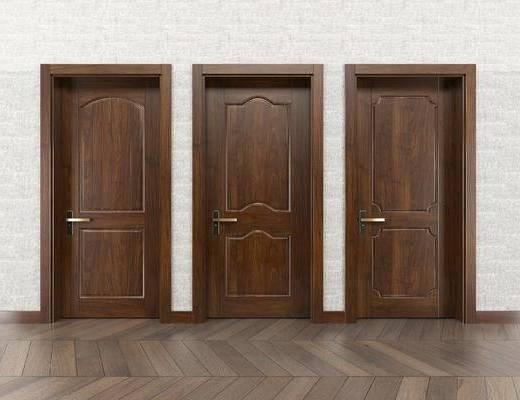 美式室内门, 美式门, 门构件