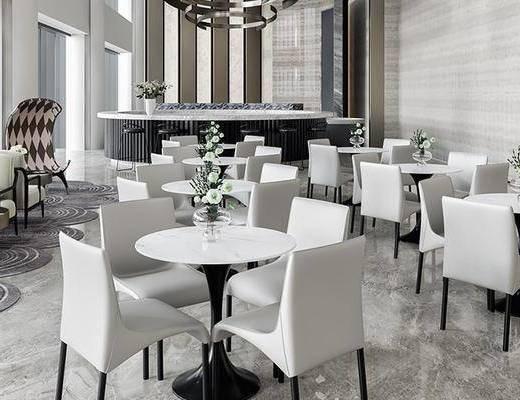 售楼处, 桌椅组合, 吊灯, 沙发组合, 茶几