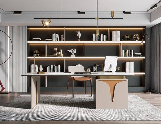 现代书房, 家装