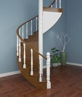 樓梯, 旋轉樓梯, 現代