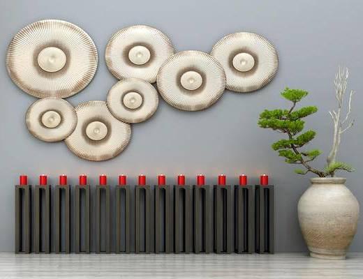 装饰品摆件, 蜡烛, 墙饰, 盆栽, 园艺小品, 园林小品
