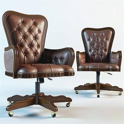 单人椅, 皮革椅, 办公椅, 现代