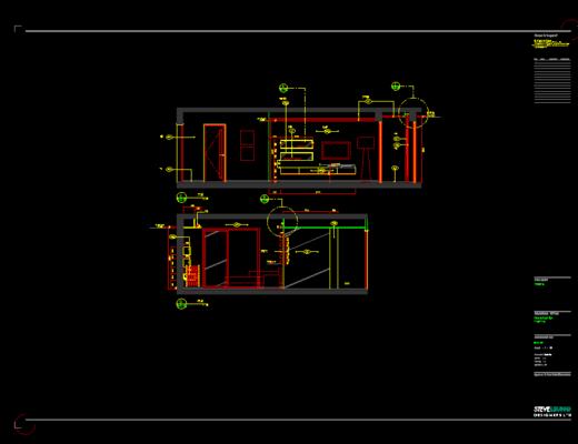 CAD施工图, 家装施工图, 平面图