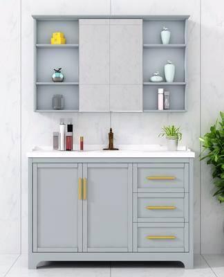 卫浴柜组合, 洗手台组合, 洗浴组合, 现代