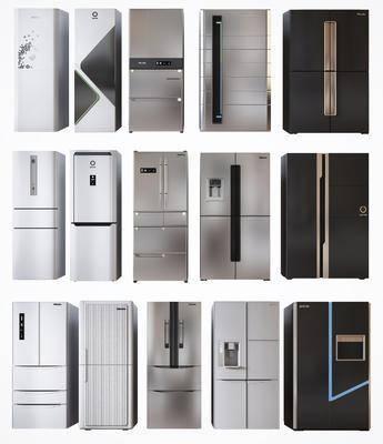 冰箱, 壁柜, 厨房电器