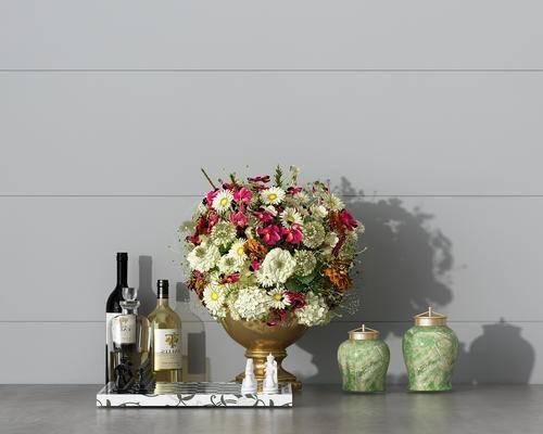 摆件, 花瓶, 酒瓶