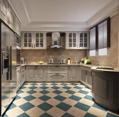 厨房, 厨柜, 美式厨房